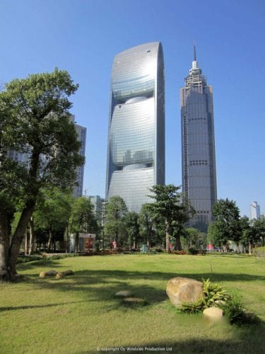 Pearl River Tower was designed a zero emission building and is one of the most ecological buildings globally
