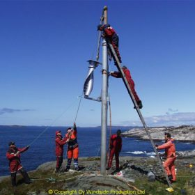 Windside WS-0,30A wind turbine producing power for a lighthouse in Norway