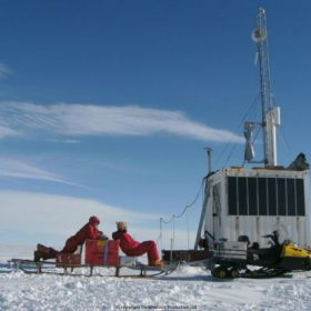 Windside WS-0,30A8 wind turbine producing power for a research station in Antarctica