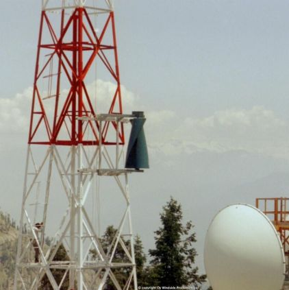 Windside WS-2A wind turbine producing power for a telecommunitaction tower in Central Asia