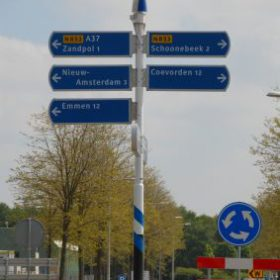 Two WS-0,30B on a street sign in the Netherlands