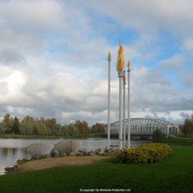 """Windside wind art work """"Synergy"""" in Oulu, Finland"""