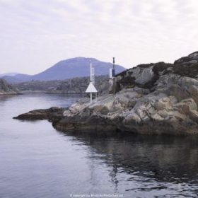 Windside WS-0,15B producing power for a ship traffic signal system in Norway
