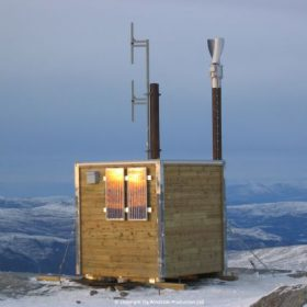 Windside WS-0,15B wind turbine producing power for a police repeat station in Norway