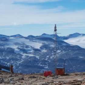 Windside Two WS-0,15Bplus turbines in Antarctica.