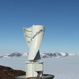 Windside WS-0,15B on a VHS repeater site at Mt. Parsons near Mawson