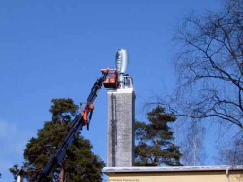 WS-2B being installed in Tammisaari, Finland