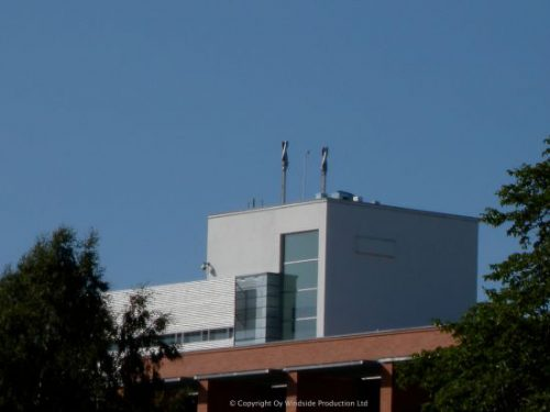 Two WS-0,30B on top of the University of Vaasa, Finland