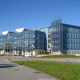"Four WS-0,30B turbines on Viikki ""Eco-Building"" Helsinki."